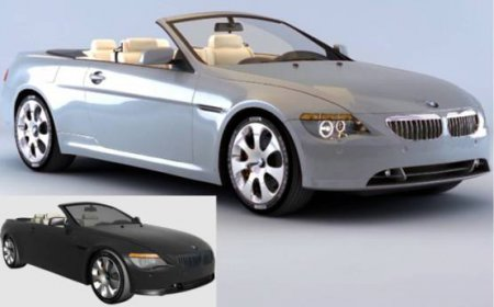 3D model for 3dsMax. Car (BMW 6 Convertible)