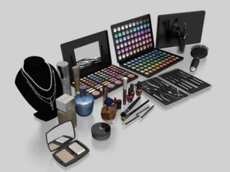 3D model for 3d Max. A set of cosmetics.