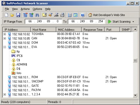 SoftPerfect Network Scanner 5.4.4 Portable
